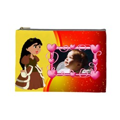 Princess Cosmetic Bag Large By Kim Blair   Cosmetic Bag (large)   P7yotoibnbbl   Www Artscow Com Front
