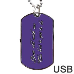 Weddingusb By Patricia W   Dog Tag Usb Flash (two Sides)   5abp7u6jc00r   Www Artscow Com Back
