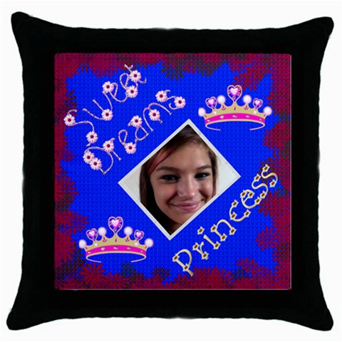 Sweet Dream Throw Pillow Case By Kim Blair   Throw Pillow Case (black)   0jitxliiac6c   Www Artscow Com Front