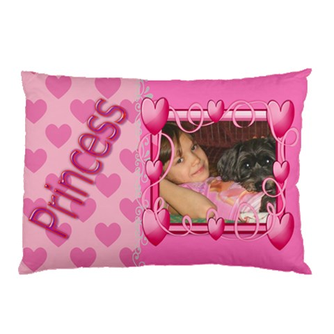 Princess Heart Pillow Case By Kim Blair   Pillow Case   Clobwebmu4fu   Www Artscow Com 26.62 x18.9  Pillow Case