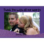 wedding thank you - THANK YOU 3D Greeting Card (7x5)
