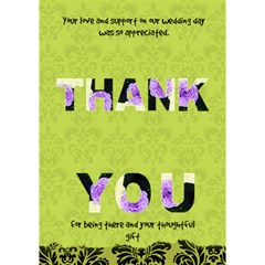 Wedding Thank You By Patricia W   Thank You 3d Greeting Card (7x5)   U9saecf2wrqy   Www Artscow Com Inside