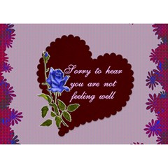 Blue Rose Get Well Card By Kim Blair   Get Well 3d Greeting Card (7x5)   89cmpne3wbev   Www Artscow Com Front