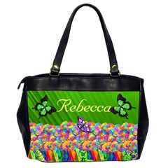 Rainbow garden Oversize Handbag (2 sides) by Kim Blair Back
