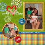 Kids reading with Paw-Paw - ScrapBook Page 12  x 12