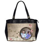 French Garden Vol1 - Oversize Handbag (2sides)  - Oversize Office Handbag (Two Sides)
