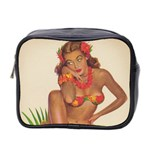 Retro Hawaiian Cosmetic Bag - Mini Toiletries Bag (Two Sides)