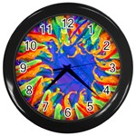 color splash clock - Wall Clock (Black)