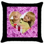 lover - Throw Pillow Case (Black)
