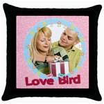 lover - Throw Pillow Case (Black)
