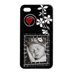 Black and White Apple iPhone 4/4S Seamless Case - Apple iPhone 4/4s Seamless Case (Black)