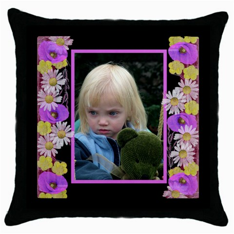 Little Poppy Throw Pillow by Deborah Front