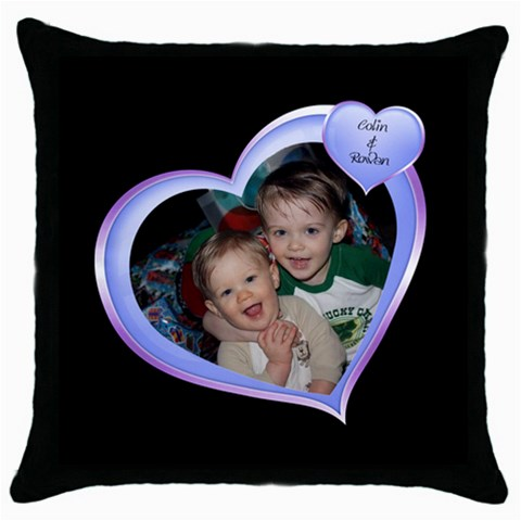 Pillow Amy By Crystal Teed   Throw Pillow Case (black)   U7flwuh299yx   Www Artscow Com Front