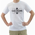 team groom stag and doe shirt - Men s T-Shirt (White) (Two Sided)