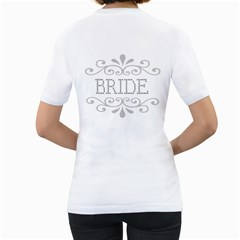 Bride T Shirt By Kim Blair   Women s T Shirt (white) (two Sided)   L4o20k7dximh   Www Artscow Com Back