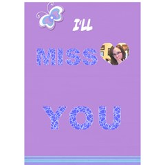 Card For Hannah By Adina Goldblatt   Miss You 3d Greeting Card (7x5)   Trw0jsxn2ek5   Www Artscow Com Inside