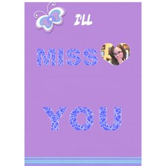 Card 4 Sarah By Adina Goldblatt   Miss You 3d Greeting Card (7x5)   Oz206ltf194m   Www Artscow Com Inside
