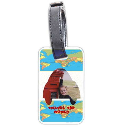 Travel The World Luggage Tag By Malky   Luggage Tag (one Side)   Advp8c7r8yq7   Www Artscow Com Front