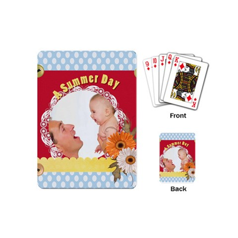 Summer By Joely   Playing Cards (mini)   1zrf8gb01evk   Www Artscow Com Back