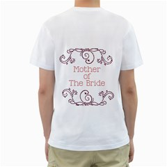 Mother Of The Bride T Shirt By Kim Blair   Men s T Shirt (white) (two Sided)   7vaz7faz628q   Www Artscow Com Back