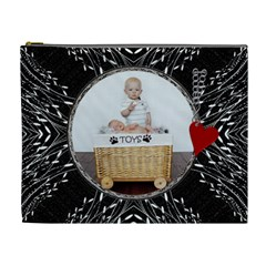 Bold Xl Cosmetic Case By Lil    Cosmetic Bag (xl)   Iqe8p3ig70as   Www Artscow Com Front