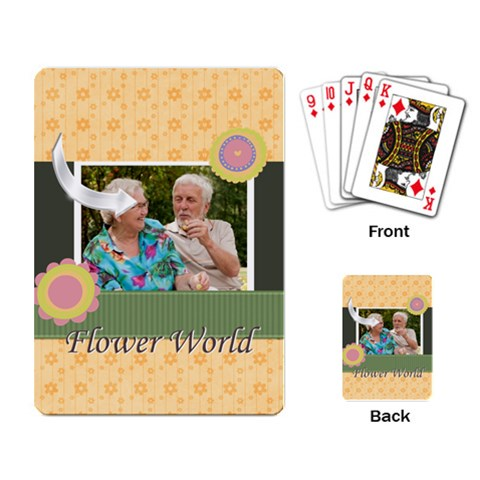 Flower By Joely   Playing Cards Single Design   Nsarbke0nvp4   Www Artscow Com Back