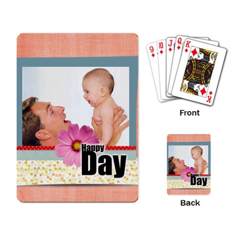 Happy Day By Joely   Playing Cards Single Design   Qwd4qj81s53v   Www Artscow Com Back