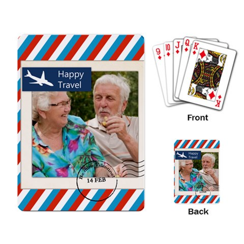 Travel By Joely   Playing Cards Single Design   H5bgsh008bhe   Www Artscow Com Back