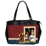 Christmas/Santa-Oversize Office Handbag (2 sides)