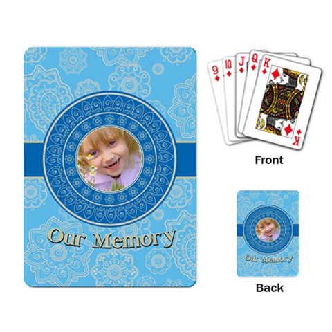 Our Memory By Divad Brown   Playing Cards Single Design   537yimf7ivzw   Www Artscow Com Back