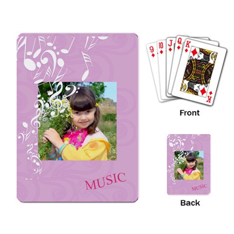 Music By Divad Brown   Playing Cards Single Design   Urnz1k3wjqkd   Www Artscow Com Back