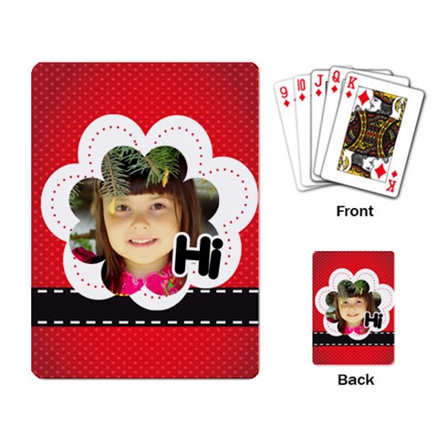 Hi By Divad Brown   Playing Cards Single Design   N5cp5kcm5n9v   Www Artscow Com Back
