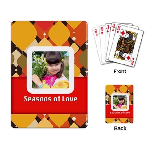 Love By Divad Brown   Playing Cards Single Design   Lenurz8eedrr   Www Artscow Com Back
