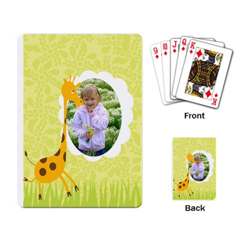 Kids By Divad Brown   Playing Cards Single Design   05gm6uio3qx8   Www Artscow Com Back