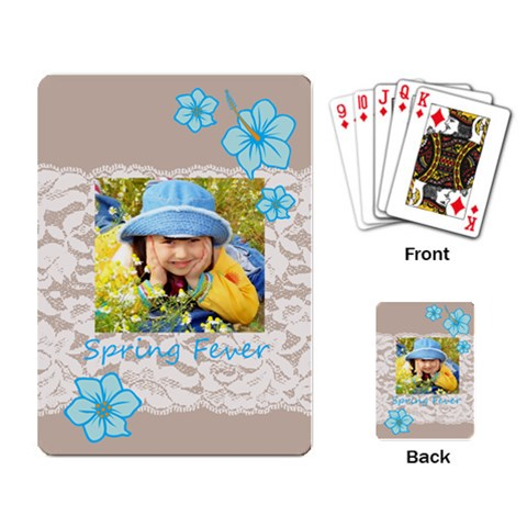 Spring By Divad Brown   Playing Cards Single Design   Gac2kdk7ycq2   Www Artscow Com Back