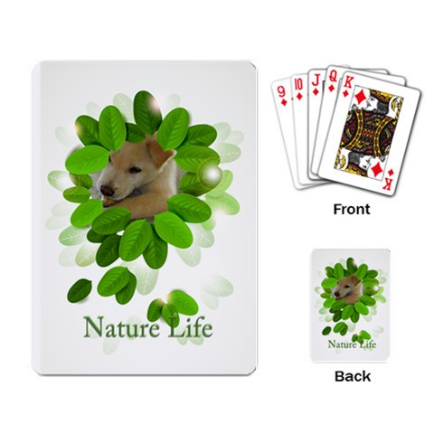 Nature Life By Divad Brown   Playing Cards Single Design   Vlra1ijw1qh1   Www Artscow Com Back