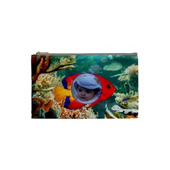 Deep Water Small Cosmetic Bag By Malky   Cosmetic Bag (small)   Yf9kaucibv5j   Www Artscow Com Front