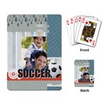 soccer - Playing Cards Single Design