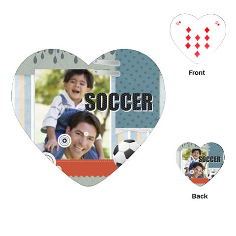 Soccer By Joely   Playing Cards (heart)   Zijnmecumpvo   Www Artscow Com Front