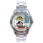 soccer - Stainless Steel Analogue Men's Watch