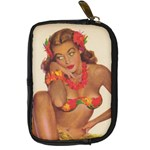 Hawaiian Gal Leather Camera Case - Digital Camera Leather Case