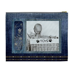 Pretty Denim Xl Cosmetic Bag By Lil    Cosmetic Bag (xl)   Tdoniuehynr7   Www Artscow Com Back