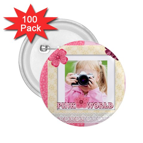 Kids By Joely   2 25  Button (100 Pack)   8jem8h4euym0   Www Artscow Com Front