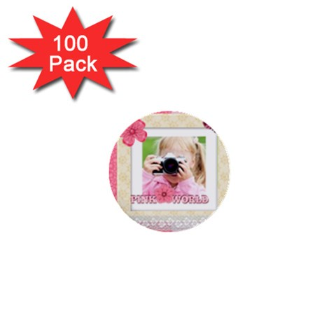 Kids By Joely   1  Mini Button (100 Pack)    Cu9sp7qh062l   Www Artscow Com Front