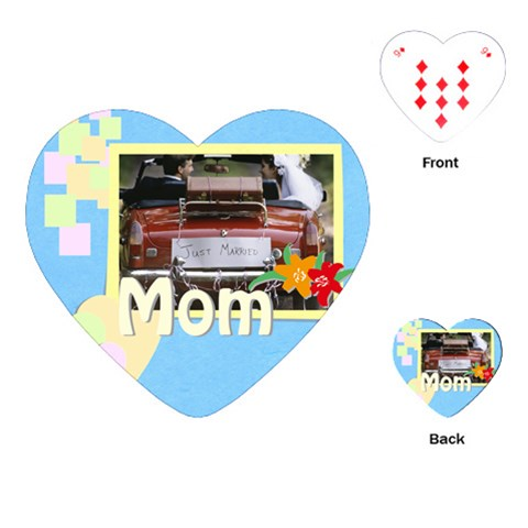 Mom By Jacob   Playing Cards (heart)   7f183goacc9g   Www Artscow Com Front