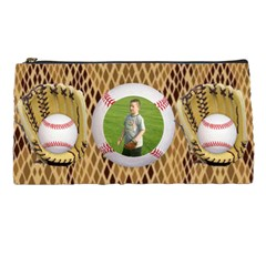 Baseball Pencil Case By Kim Blair   Pencil Case   B0bdurs59h3v   Www Artscow Com Front