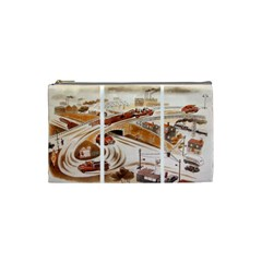 Cars Small Cosmetic Case By Leandra Jordan   Cosmetic Bag (small)   Emxqdnln1lmd   Www Artscow Com Front