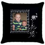 Pretty Black Throw Pillow Case - Throw Pillow Case (Black)