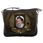Floral, Hearts Messenger Bag