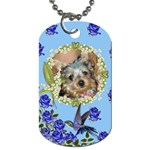 Blue rose dog tag two sides - Dog Tag (Two Sides)